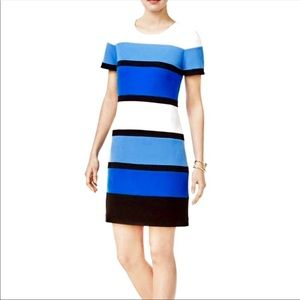 Tommy Hilfiger Striped Shift Short Sleeve Dress